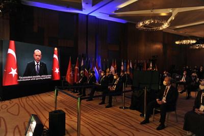 President of Turkey Recep Tayyip Erdoğan sent a video message to the 4th Ethnosport Forum. (PRNewsfoto/World Ethnosport Confederation (WEC))