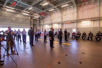 Operational Service Medal: A rare honour for m/v Asterix civilian crew Federal Fleet Services (FFS), operator of Canada's leading combat support ship, m/v Asterix, announced today that 52 of its civilian crew have received the Canadian Armed Forces (CAF) Operational Service Medal with Expedition (OSM-EXP) for their support during Operation PROJECTION in 2019. (CNW Group/Federal Fleet Services)