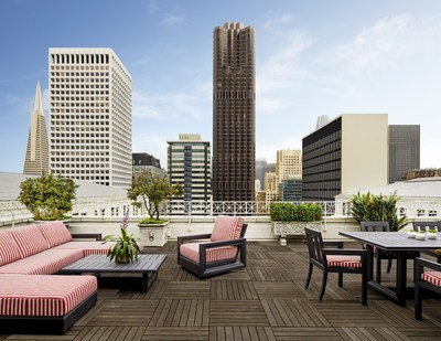 Elegant guestrooms and suites at the iconic Ritz-Carlton, San Francisco include The Presidential Suite featuring a 1,200-square-foot balcony overlooking the courtyard and Financial District.