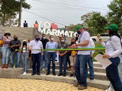 Marmato Municipal Park opening ceremony, March 2021 (CNW Group/Aris Gold Corporation)