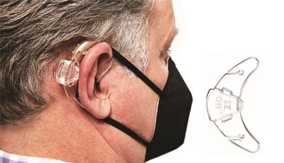 EZ-Off(TM) helps keep face mask strings from snagging on hearing aids, ear pods, long or large earrings, and glasses.