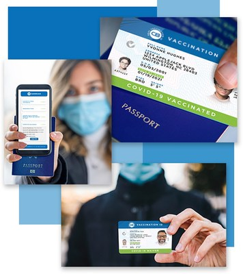 The CastleBranch Real Vaccination ID COVID-19 Waiver Card provides validated physical and digital proof of an individual's legally permissible waiver status. (PRNewsfoto/CastleBranch)