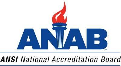 ANSI National Accreditation Board (ANAB) Logo (PRNewsfoto/American National Standards Ins)