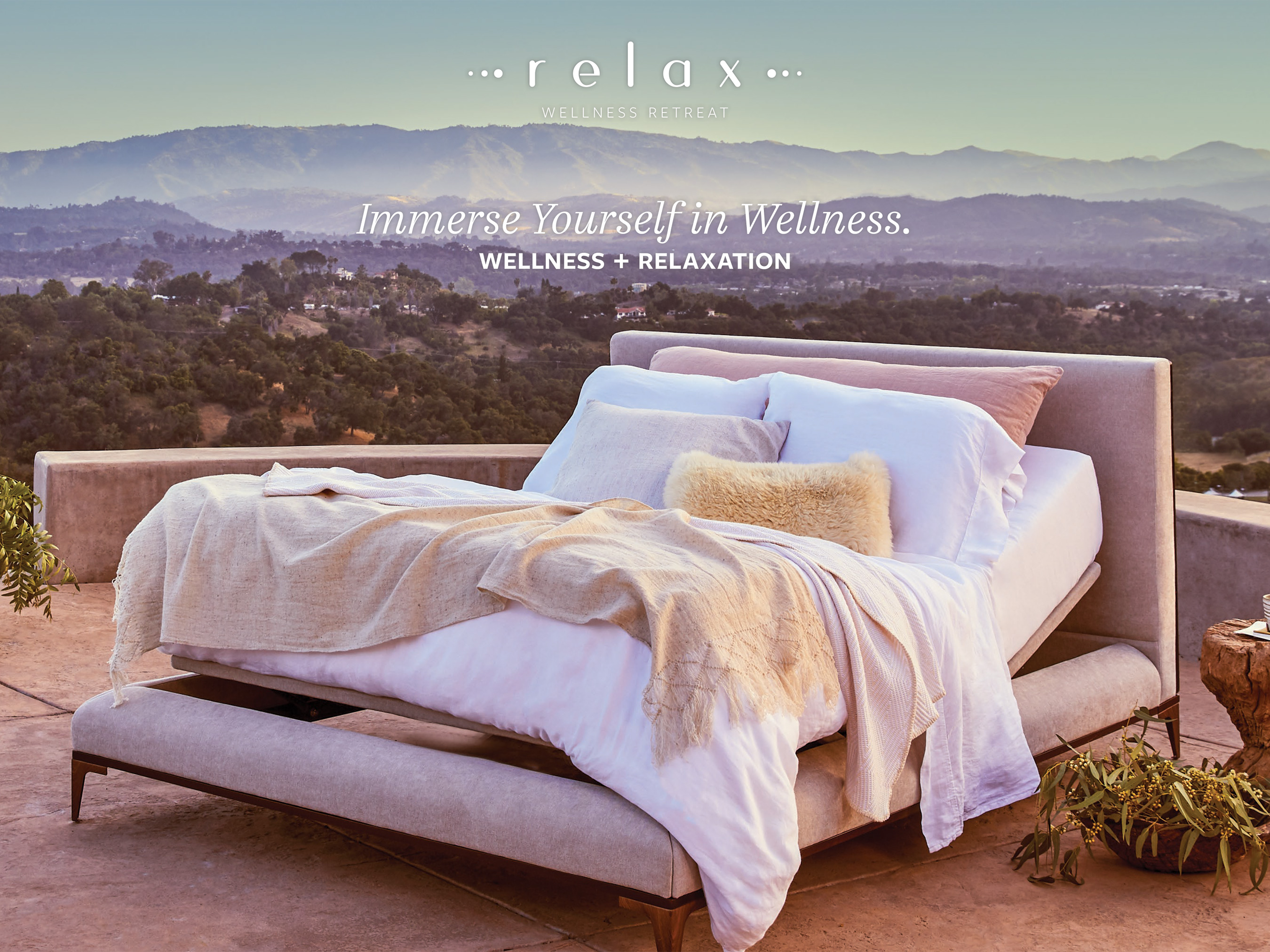 Wellness Retreat, a reinterpretation of the adjustable base category, that soothes the body, refreshes the mind, and rejuvenates the spirit.
