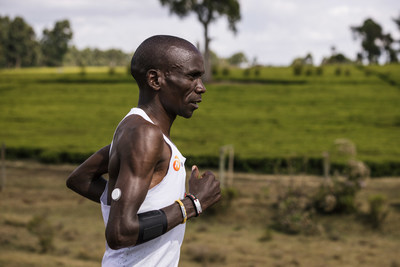 Eliud Kipchoge is training with Abbott's Libre Sense to monitor his glucose levels to help him achieve optimal athletic performance.