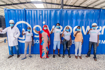 GivePower Solar Water Farm team