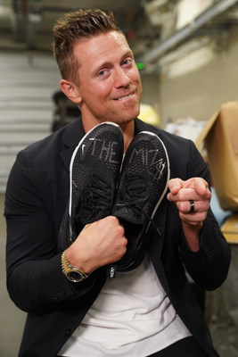 WWE® Superstar The Miz® & His Signed Sneakers that will be auctioned off as part of Lotrimin & Soles4Souls #GoWithConfidence Charitable Auction.