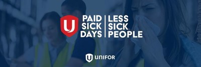 Paid Sick Days. Less Sick People. (CNW Group/Unifor)