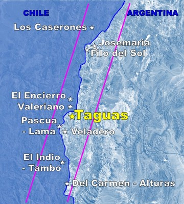 Figure 1. Location of the Taguas Property (CNW Group/Orvana Minerals Corp.)