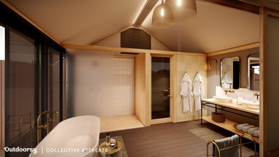 Spacious, fully equip washrooms (courtesy of Collective Retreats)