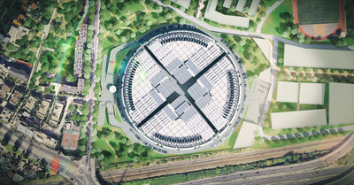 Aerial view of the Interxion Paris Digital Park development