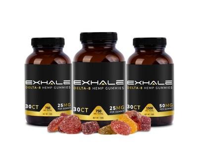 Exhale's new line of Delta-8 Gummies.