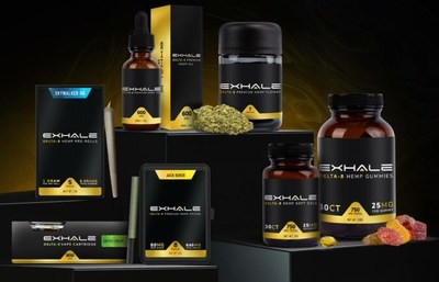 Premium Delta-8 products from Exhale.